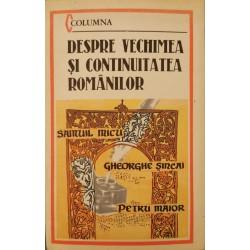 Despre vechimea si continuitatea romanilor - Samuil Micu, Gheorghe Sincai, Petru Maior
