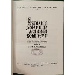 Istoriile Domnilor Tarii Romanesti - Radu Popescu Vornicul