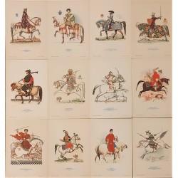 Arme si Cavaleri - Colectie completă de 12 stampe originale