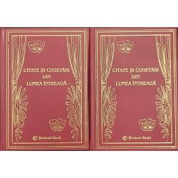 Citate si cugetari din lumea intreaga (2 vol.)