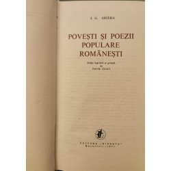 Povesti si poezii populare romanesti - I. G. Sbiera