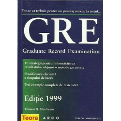 GRE. Graduate Record Examination - Thomas H. Martinson