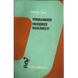 Permanente flosofice romanesti - Gheorghe Toma