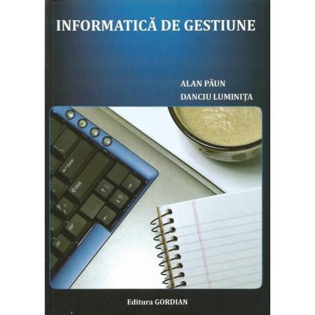 Informatica de gestiune - Alan Paun, Danciu Luminita