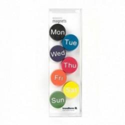 Magnet zilele saptamanii WEEKDAYS (7 buc./set)