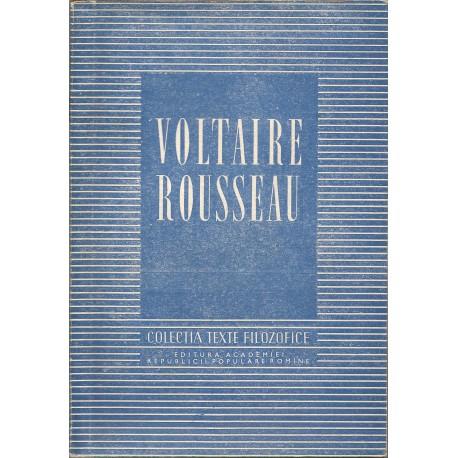 """Voltaire Rousseau - Colectia """"texte Filozofice"""""""
