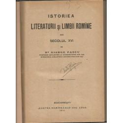 Istoriea Literaturii si Limbii Romane din Secolul XVI - Giorge Pascu