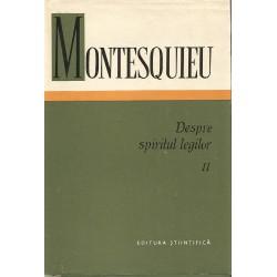 Despre spiritul legilor vol. 2 - Montesquieu