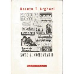 Note si comentarii - Barutu T. Arghezi