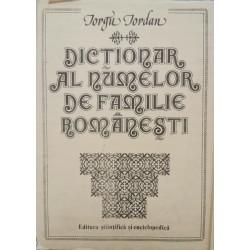 Dictionar al numelor de familie romanesti - Iorgu Iordan